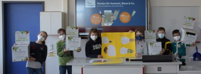 Handy-Sammelaktion für Hummel, Biene und Co.