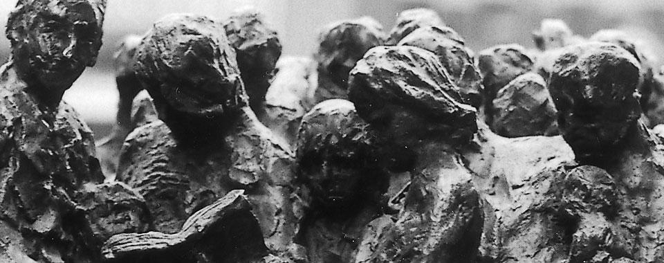 Ja-Sager und Nein-Sager (Bronze, U. Hees, Wuppertal)