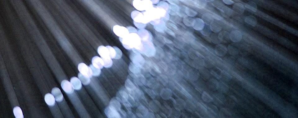 Lichtdurchflutete Glasfaserkabel