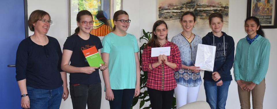 Unsere stolzen Preisträger im Teamwettbewerb