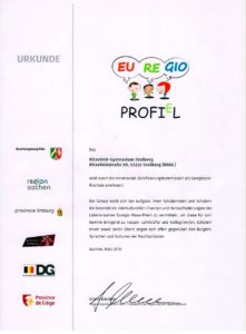 Urkunde Euregioprofil